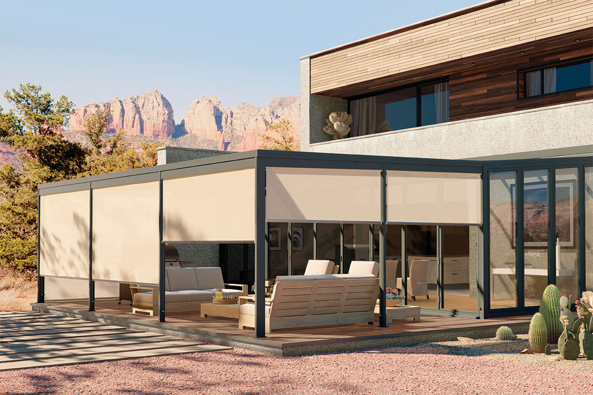 shade openness a allows installation with gain helping and outside while blocking glare pin solar to block reduce heat sun the blinds beautiful view